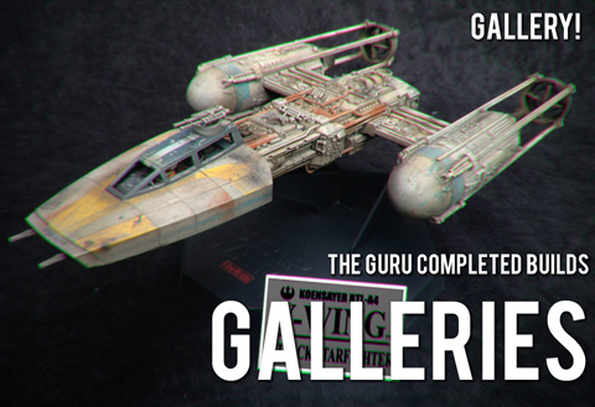 Modelmaking Guru Gallery completed builds, plastic model, Gunpla, Gundam, Star Wars, Military Miniatures, Bandai, Tamiya, Revell, Fine Molds