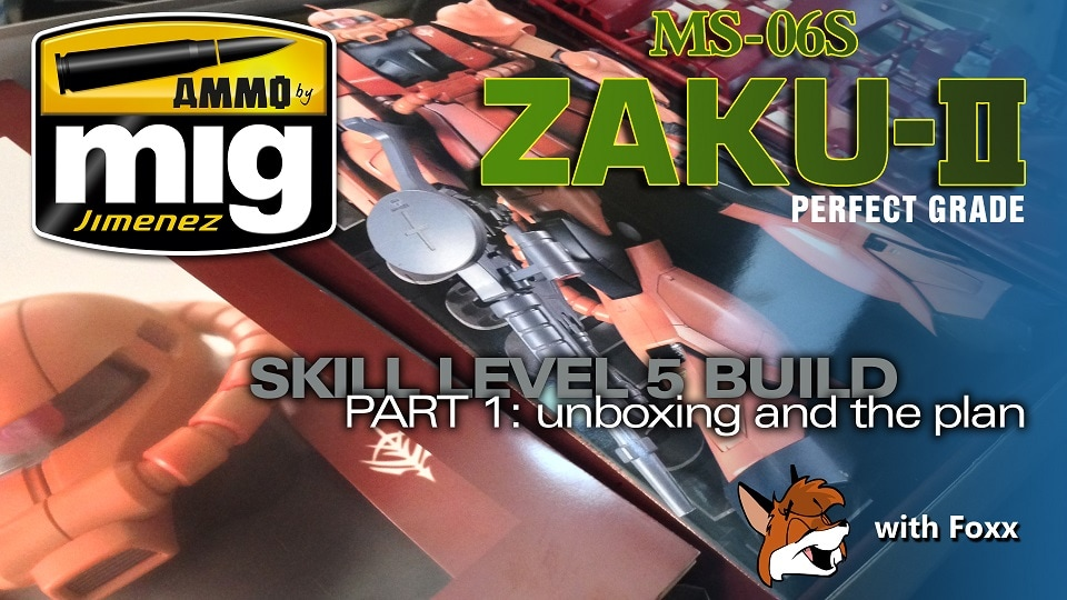 Modelmaking Guru, YouTube, Bandai, plastic models, building models, making models, Ammo by Mig, tamiya, gunpla, plamo, video tutorials, painting models, scale models, scale modelling, Perfect Grade Zaku II
