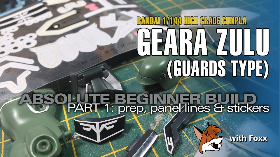 Modelmaking Guru, YouTube, Bandai, plastic models, building models, making models, Ammo by Mig, tamiya, gunpla, plamo, video tutorials, painting models, scale models, scale modelling, Geara Zulu