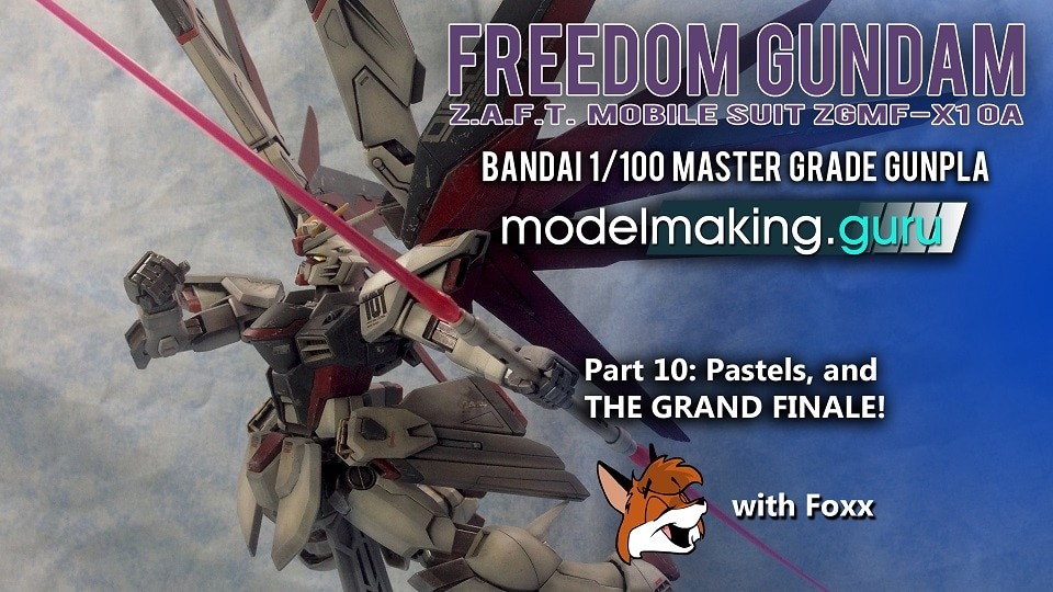 Modelmaking Guru, YouTube, Bandai,plastic models, building models, making models, Ammo by Mig, tamiya, gunpla, plamo, video tutorials, painting models, scale models, scale modelling, Freedom Gundam, Master Grade
