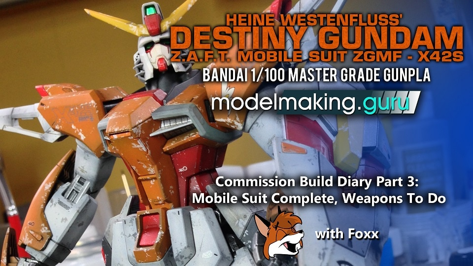 Modelmaking Guru, YouTube, Bandai,plastic models, building models, making models, Ammo by Mig, tamiya, gunpla, plamo, video tutorials, painting models, scale models, scale modelling, Master Grade Destiny Gundam