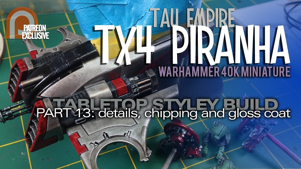 Modelmaking Guru, YouTube, Bandai,plastic models, building models, making models, Ammo by Mig, tamiya, gunpla, plamo, video tutorials, painting models, scale models, scale modelling, Warhammer, Warhammer 40K, Warhammer 40,000, Tau Empire, Tau Piranha, painting Warhammer, painting miniatures, Citadel paints