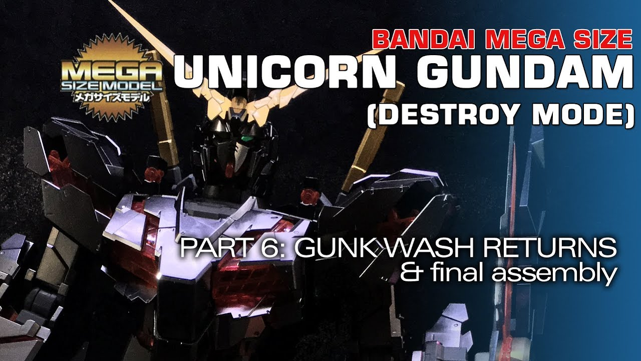 Modelmaking Guru, YouTube, Bandai,plastic models, building models, making models, Ammo by Mig, tamiya, gunpla, plamo, video tutorials, painting models, scale models, scale modelling, Mega Size, Mega Size Unicorn Gundam, Destroy Mode, C1 Metalizer, Vallejo Metal Color, painting gunpla, painting bare metal