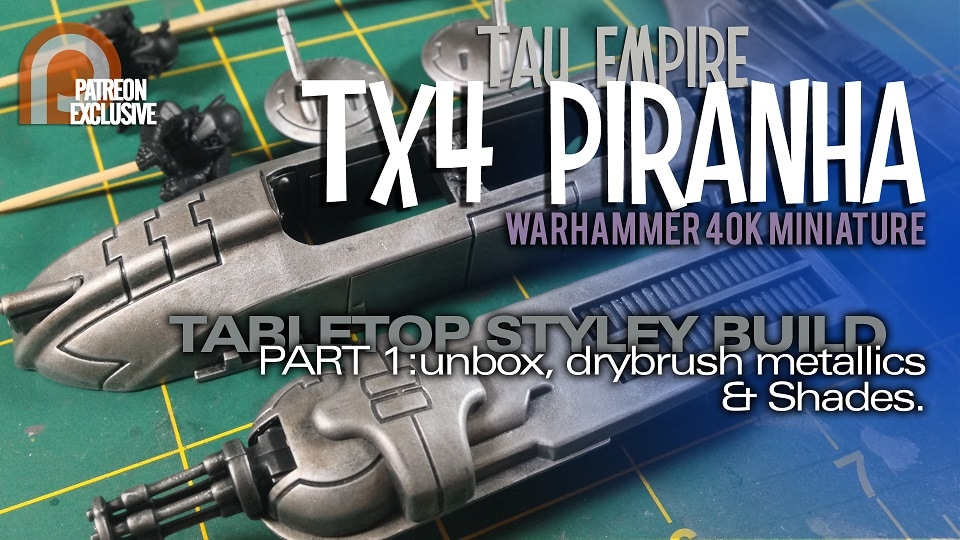 odelmaking Guru, YouTube, Bandai, plastic models, building models, making models, Ammo by Mig, tamiya, gunpla, plamo, video tutorials, painting models, scale models, scale modelling, Games Workshop, Warhammer 40K, Painting Warhammer, Tau Piranha