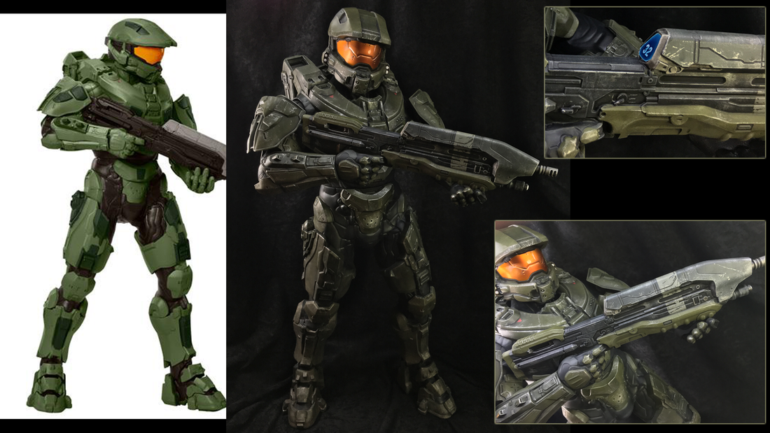 Jakks Pacific 31 Inch Master Chief, painting action figures, Modelmaking Guru, plastic model, model, scale model, military miniatures, Gunpla, Fine Molds, Gundam, Bandai, Tamiya, Revell, Airfix, Ammo of Mig Jimenez, eModels, painting, weathering, tutorial, making models, painting gunpla, painting models, weathering models, model making
