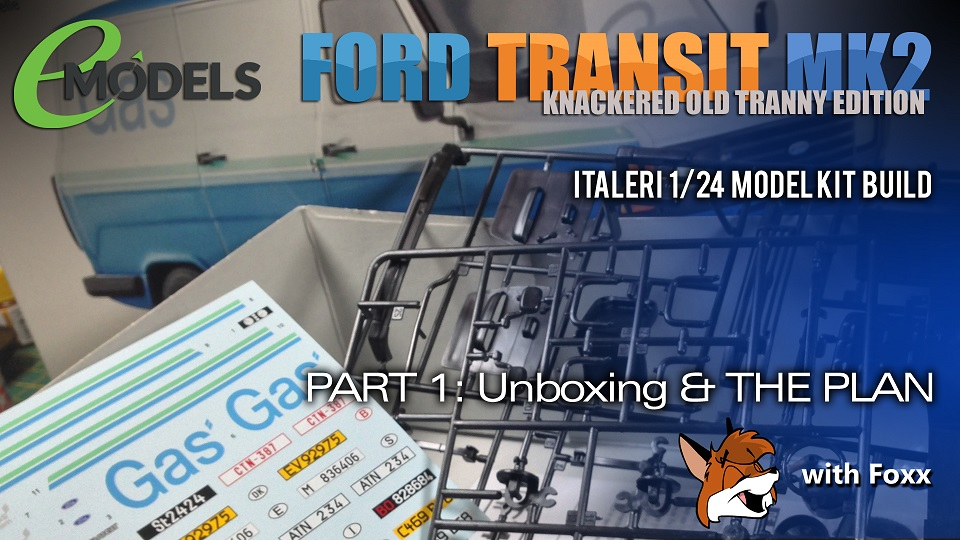 Modelmaking Guru, Italeri Ford Transit Mk. 2, painting, weathering, 1/24 scale model, video build series, YouTube